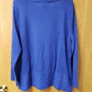 Karen Scott Sweaters - Cotton Ottoman-Stitch Boat-Neck Sweater